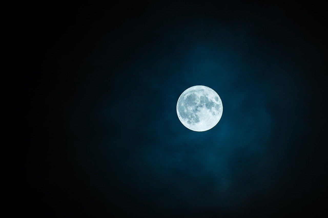 Nacht Mond Vollmond Finsternis